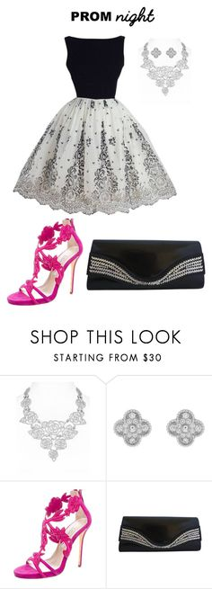 """""""Untitled #1961"""" by nadia-n-pow on Polyvore featuring Kate Spade, Van Cleef & Arpels, Oscar de la Renta and PROMNIGHT"""