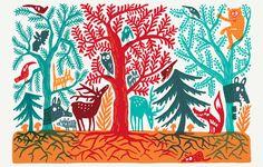 adrienne barman, illustratrice graphiste | forêt | perso