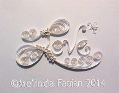 8 x 10 Elegant Quilled Word Art. Paper Art by MelindaFabian, $150.00