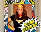 Superhero Theme Photo Booth / INSTANT DOWNLOAD / Prop Frame / Super Heroes Party / Printable DIY / Comic