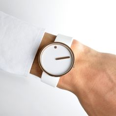 Originally conceived in 1984 by Danish designers Steen Georg Christensen and Erling Andersen, the Picto is an attempt to capture a picture of time. #design #watches
