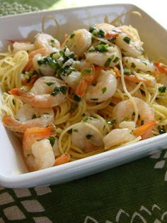 Just Cooking: Shrimp Scampi over Angel Hair Pasta