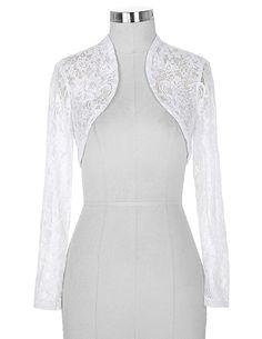 Kadınlar için ucuz Siyah Beyaz Dantel Gelin Boleros Düğün Ceketler gelin Uzun Kollu Abiye 2017 için Kırpılmış Wrap Shrug BP49