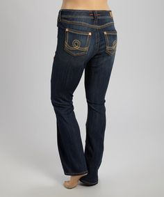 Look what I found on #zulily! Seven7 Dark Wash Unstoppable Jeans - Plus by Seven7 #zulilyfinds