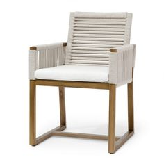 The Hines modern classic plantation teak wood and rope arm chair is a beautiful, unique addition to your outdoor space or coastal dining room. The wrapped detailing of the chair back and arms is a great infusion of texture into your space. Outdoor Wood Furniture, Coastal Furniture, Coastal Decor, Coastal Curtains, Coastal Entryway, Eclectic Furniture, Coastal Rugs, Porch Furniture, Coastal Farmhouse
