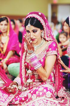 Great Emotions captured of Beautiful indian bride. Just love this.  Photo by:Nimboo