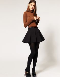 Absolutely wanting to wear skivvys, and with a flippy skirt, it's perfect for winter! from Asos