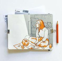 Fabulous Drawing On Creativity Ideas. Captivating Drawing On Creativity Ideas. Sketchbook Drawings, Sketchbook Pages, Art Sketches, Art Drawings, Drawing Drawing, Wow Art, Sketchbook Inspiration, Art Plastique, Oeuvre D'art
