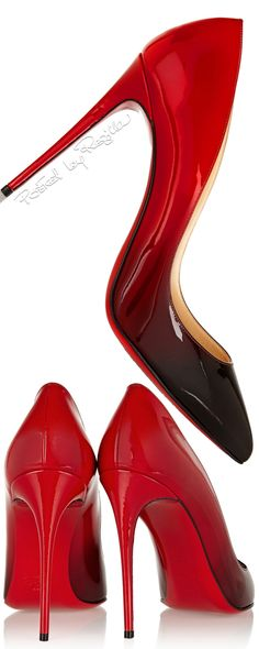 Regilla ⚜ Christian Louboutin, fade to black Pigalle 100