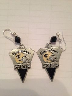 Saints earrings