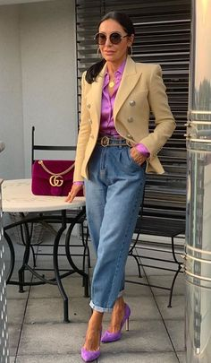 Over 50 Womens Fashion, Fashion Over 40, 50 Fashion, Work Fashion, Fashion Looks, Fashion Outfits, Mode Outfits, Stylish Outfits, Looks Jeans