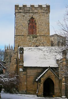 Holy Trinity Church in Goodramgate, York, England. One of my favourite small churches, it looks loveliest with a dusting of snow. Yorkshire England, North Yorkshire, Yorkshire Dales, Anglican Church, Cathedral Church, World Religions, Beautiful Architecture, Great Britain, United Kingdom