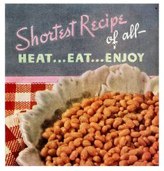 Heat...eat...enjoy. #vintage #1940s #food #ads