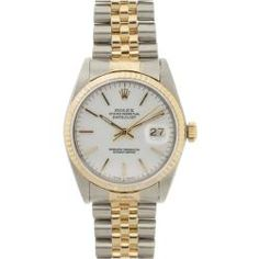 @Overstock - This beautiful Pre-owned Rolex Men's stainless steel and yellow gold Datejust features an 18 Kt yellow gold fluted bezel for a stylish and elegant look.http://www.overstock.com/Jewelry-Watches/Pre-owned-Rolex-Mens-Datejust-Two-tone-White-Dial-Watch/6385750/product.html?CID=214117 $3,239.99