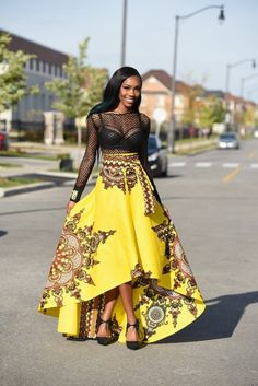 Rahyma Java HiLo Skirt ~African fashion, Ankara, kitenge, African women dresses, African prints, African men's fashion, Nigerian style, Ghanaian fashion ~DKK