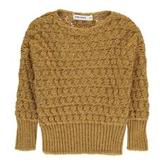 Bobo Choses Lurex Wool Jumper Ochre