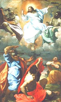 The Transfiguration by Lodovico Carracci print from painting. Jesus Christ is Transfigured in this beautiful painting my Carracci. Renaissance, Catholic Art, Religious Art, Catholic Theology, Image Jesus, Christian Mysticism, The Transfiguration, Fra Angelico, Holy Rosary