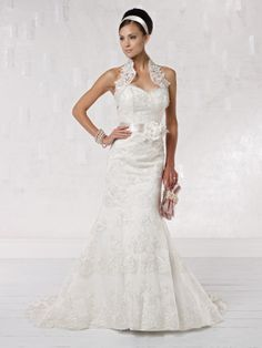 Chic sweetheart trumpet / mermaid chapel train bridal gowns