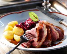 Duck breast and wine sauce/Ankanrintaa ja viinikastiketta