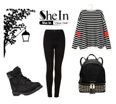 """""""Untitled #182"""" by minna-998 ❤ liked on Polyvore featuring Topshop, MICHAEL Michael Kors, Timberland and shein"""