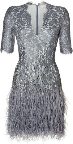 MATTHEW WILLIAMSON ALTERNATIVE WEDDING Embellished Lace Dress in Pewter - Lyst