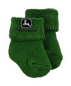 John Deere Infants' Logo Terry Turn Cuff Booties, 1 Pair   Tractor Supply Company