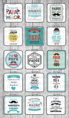 Etiquetas Autoadhesivas Frases Frascos Vasos Botellas X 55 - $ 79,90 Fathers Day Wishes, Fathers Day Crafts, Happy Fathers Day, Fathers Day Cupcakes, I Love My Father, Ideas Aniversario, Father's Day Greeting Cards, Daddy Day, Decorate Notebook