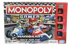 Hasbro's latest twist on Monopoly is a Mario Kart theme. And like last year's Monopoly Gamer, it's no simple reskin of the classic game. Nintendo Mario Kart, Nintendo Switch, Luigi, Family Boards, Family Board Games, Super Mario, Grand Prix, Mario Kart Characters, Monopoly Game