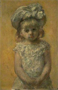 1879 Portrait d'une fillette Dimensions: 62.3 x 41 cm Gallery: Bordeaux musée des beaux arts