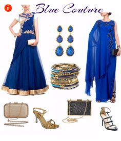 Gear up for the festive season with all things blue. #royal #blue #ethnic #ott