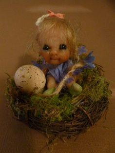 ooak baby miniature Petra fairy faerie fae woodland sprite by No Tua Lyke