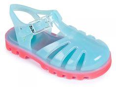 Aqua Pink Jelly Shoes