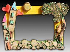Work from Silvia Logi. I love her work. Photo Frame Design, Ideas Prácticas, Homemade Art, Deco Originale, 3d Wall Art, Stone Crafts, Frame Crafts, Driftwood Art, Art Plastique