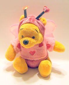 Disney Store Winnie the Pooh Luv Bug Stuffed Toy Plush Hearts Love Wings Antenna #Disney