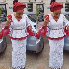 Beautiful French Lace Aso Ebi Style For Ladies
