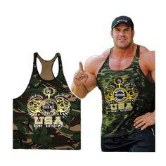 New Singlets Camouflage Tank Tops Shirt Bodybuilding Fitness Men's Golds T-shirt Stringer   #men #top #tanktop #shirt #tshirt #casual #fitnessapparel #sportswear #activewear #clothing #Boxing #crossfit #bodybuilding