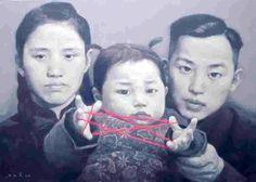 Series 'Family Memory' by Zhu Yi Yong (was born in Chongching, Sichuan Province, in 1957)