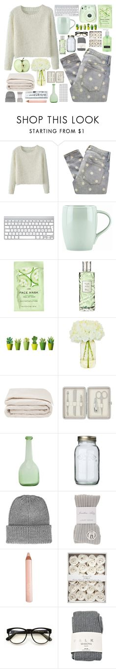 """""""Fresh, light green"""" by berina-2000 ❤ liked on Polyvore featuring Marc by Marc Jacobs, Dansk, H&M, Christian Dior, Frette, John Lewis, Kilner, Topshop, River Island and Trish McEvoy"""