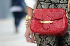 Louis Vuitton cross body red and gold detail. ♥♥♥♥