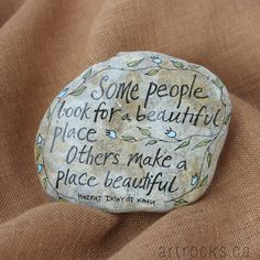 Some People Quote Stone Hand Painted Rock ArtRocks Quote on