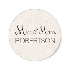 Personalized Mr. and Mrss Stickers- Wedding Favour Round Sticker. Click through to find matching games, favors, thank you cards, inserts, decor, and more. Or shop our 1000+ designs for all of life's journeys. Weddings, birthdays, new babies, anniversaries, and more. Only at Aesthetic Journeys
