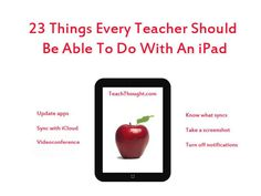 Pocket : 23 Things Every Teacher Should Be Able To Do With An iPad