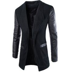 Clothes Type: Trench  Material: Faux Leather, Wool, Polyester  Collar: Turn-down Collar  Clothing Length: Long  Style: Fashion  Weight: 0.568KG  Sleeve Length: Long Sleeves  Season: Winter  Package Contents: 1 x Trench Coat  Our SizeBustLengthShoulder WidthSleeve Length M986843...