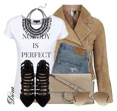 Untitled #5739 by doradabrowska on Polyvore featuring polyvore, fashion, style, Topshop, Hollister Co., Chloé, Ray-Ban and Dead Legacy