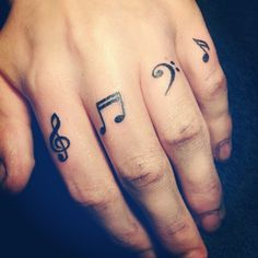 Finger music tattoo. My piano teacher (AKA my grandma :) ) would like this
