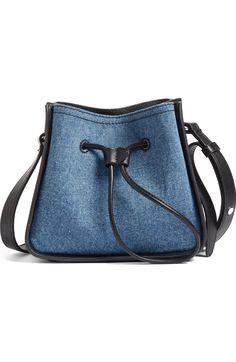 Main Image - 3.1 Phillip Lim Mini Soleil Denim & Leather Bucket Bag