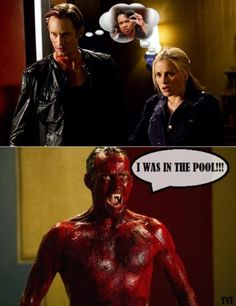 Please don't show me any more blood covered Bill... please..  #trueblood