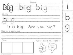 Sight-Word-Practice-Pages-FREEBIE-1177600 Teaching Resources - TeachersPayTeachers.com