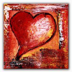 BURGSTALLER Herzbild Gemälde abstrakt Liebe Partner Mutter Geschenk Herz 131 http://www.burgstallers-art.de/online-shop/herzbilder/