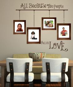 Take a look at this Brown 'All Because' Wall Decal by Sissy Little on #zulily today!